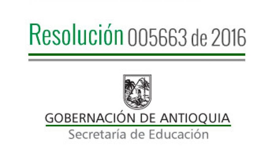 Secretaria de educaci n antioquia seduca for Resolucion docentes 2016