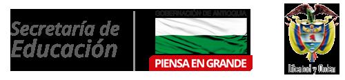 Logo Gobernación de Antioquia y Escudo de Colombia